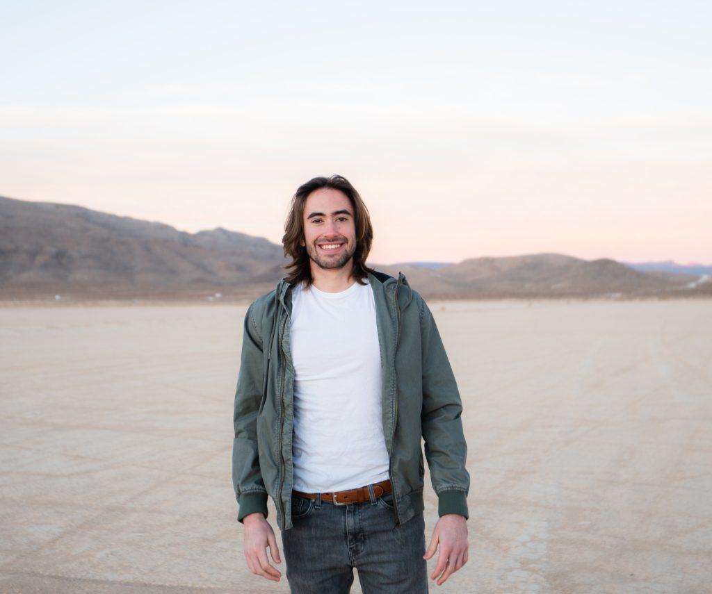 Connor portrait in desert